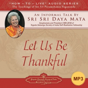 Let us Be Thankful - MP3